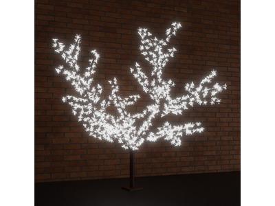"""Светодиодное дерево """"Сакура"""", выстота 2,4м, диметр кроны 2,0м, белые светодиоды, IP 65, понижающий трансформатор в комплекте, NEON-NIGHT"""