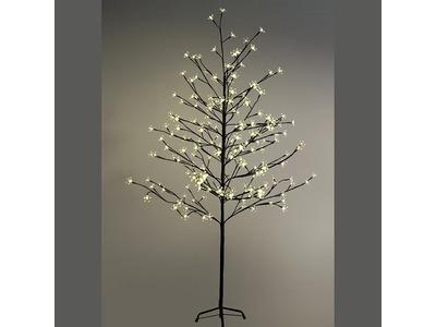 """Дерево комнатное """"Сакура"""", коричневый цвет ствола и веток, высота 1.5 метра, 120 светодиодов теплого белого цвета, трансформатор IP44 NEON-NIGHT"""