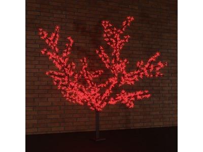"""Светодиодное дерево """"Сакура"""", высота 2,4 м, диаметр кроны 1,72м, красные диоды, IP 65, понижающий трансформатор в комплекте, NEON-NIGHT"""
