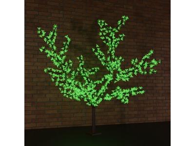 """Светодиодное дерево """"Сакура"""", высота 2,4 м, диаметр кроны 1,7 м, зеленые диоды, IP65, понижающий трансформатор в комплекте, NEON-NIGHT"""