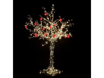 """Светодиодное дерево """"Яблоня"""", высота 2 м, 18 красных яблок, ТЕПЛЫЙ БЕЛЫЙ светодиоды, IP65, понижающий трансформатор в комплекте, NEON-NIGHT"""