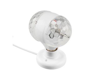 Диско-лампа светодиодная двойная Е27, подставка с цоколем Е27 в комплекте, 230 В