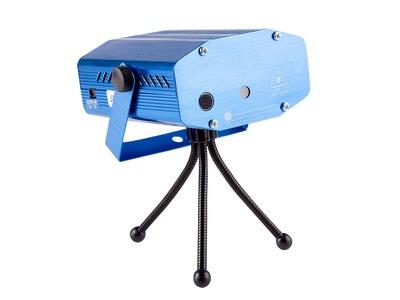 Лазерный проектор с эффектом цветомузыки, 230 В (4 проекции)