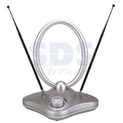 RX-1000 антенна комнатная VHF, UHF, FM, 40-862 MHz с усилителем 36dB REXANT.